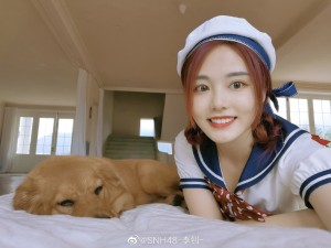 SNH48李钊纯美校服照片