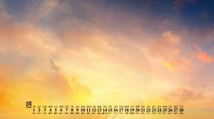 2019年2月个性设计创意日历壁纸