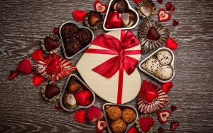 情人节礼物心型巧克力图片