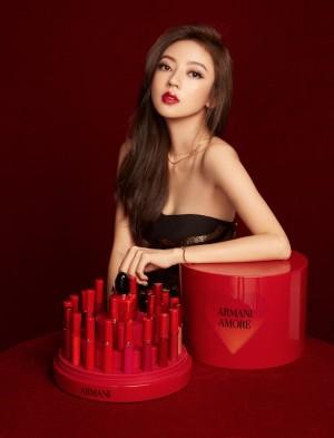 何瑞贤红唇魅惑时尚写真图片