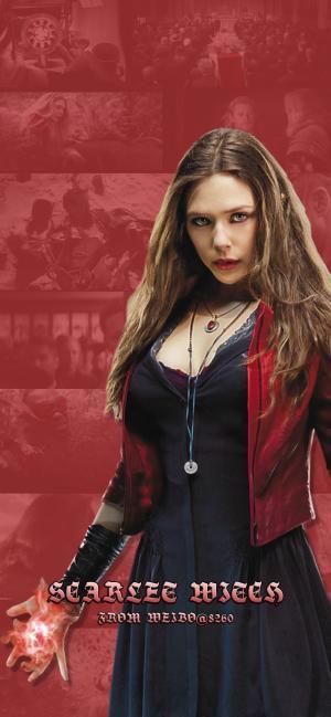 漫威超级英雄绯红女巫唯美高清手机壁纸