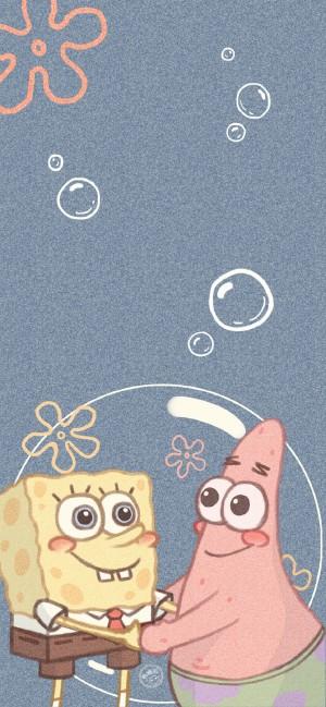 可爱海绵宝宝手绘壁纸图片