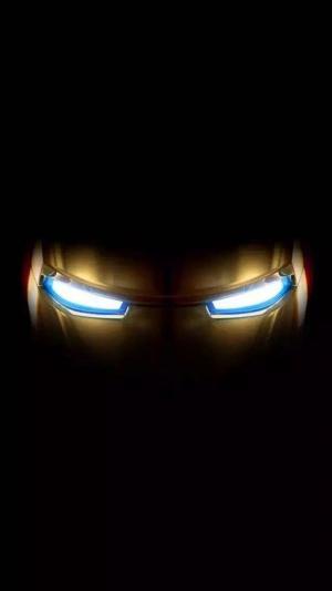 抖音里的钢铁侠眼睛锁屏图片