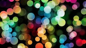 创意多彩霓虹灯光晕图片
