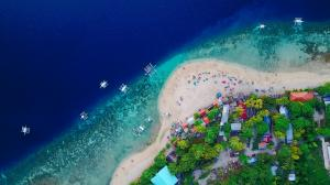 航空 亚洲沙滩4k风景壁纸