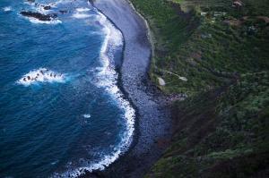 神秘的黑色沙滩