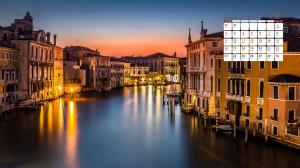 2018年12月威尼斯日历壁纸