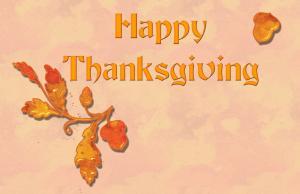 感恩节英文祝福带字图片
