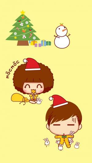 圣诞节欢乐卡通图片