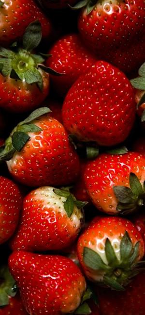 草莓全面屏高清手机壁纸