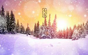 二十四节气之大雪唯美高清电脑壁纸