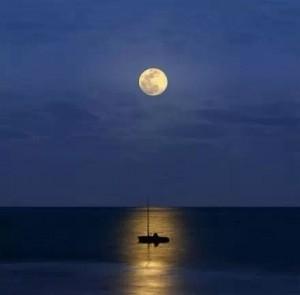 唯美晚安月亮图片