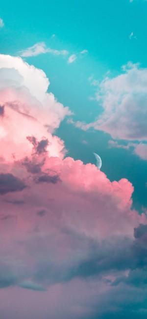 唯美清新云朵全面屏高清手机壁纸
