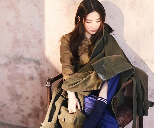 刘亦菲最新大片眼神凌厉写真
