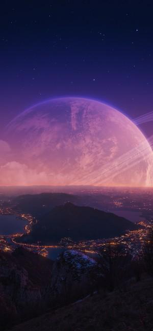星空星球全面屏高清手机壁纸