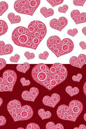 浪漫红色心形图案情人节手机壁纸