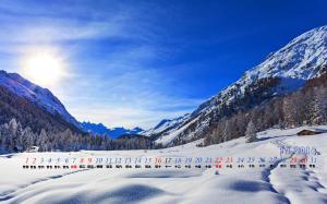 2018年12月冬日阳光高清日历电脑壁纸