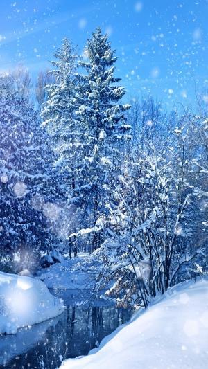 冬天雪景唯美手机壁纸