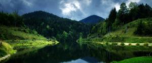 奥地利水库风景