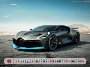 2019年6月布加迪超级跑车日历电脑壁纸