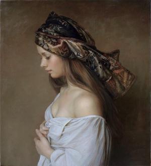 俄罗斯画家Serge Marshennikov的写实风格少女画