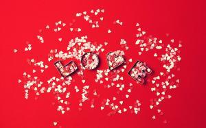 创意设计情人节爱心玫瑰图片壁纸