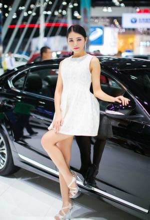 广州车展美女车模媚态诱人图片