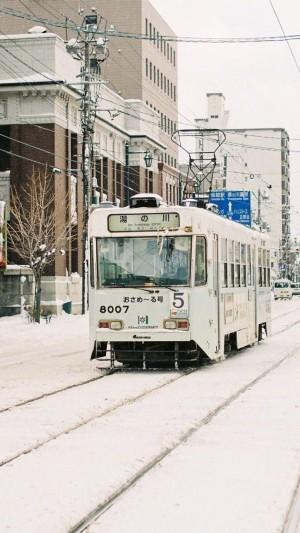 日本北海道冬日雪景唯美图片