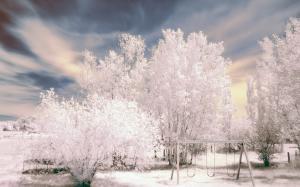 冬季唯美雪景自然风光图片