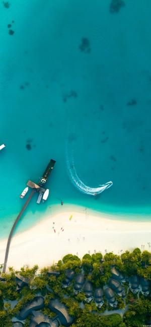 唯美大海自然风景全面屏高清手机壁纸