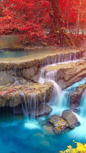 北碧府的绝美瀑布