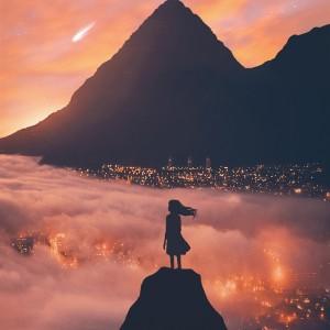 唯美夕阳意境风景图片