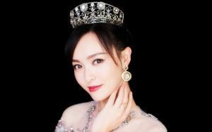 唐嫣粉色纱裙性感优雅写真图片
