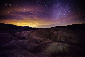 死亡谷之落日与星空