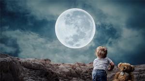 中秋圆月美景高清桌面壁纸
