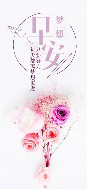 梦想早安粉红色的鲜花图片