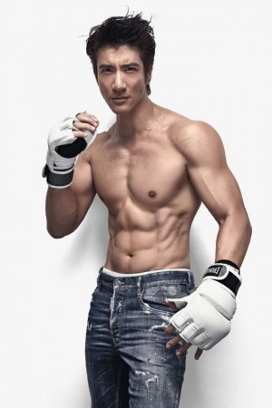 王力宏肌肉杂志封面写真图片