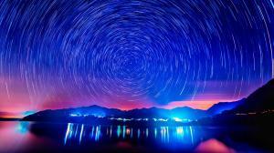 唯美星空摄影图片