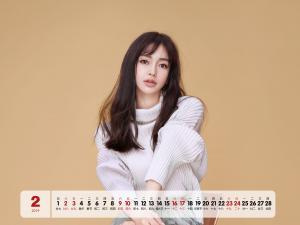 2019年2月杨颖时尚写真日历桌面壁纸