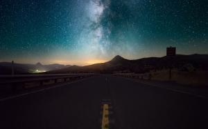 蓝色星空唯美高清图片