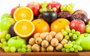 各种水果摆放图片