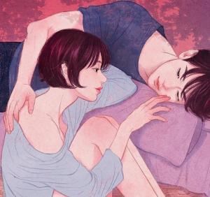 插画艺术家Zipcy描绘情侣生活中的亲密场景