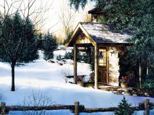 手绘圣诞夜景 第一辑