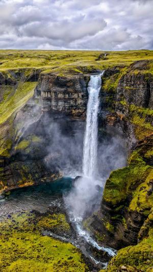 冰岛Haifoss瀑布