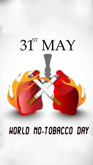 5月31日世界无烟日英文版宣传海报