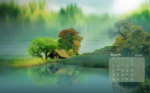 2019年3月自然风光唯美意境图片日历