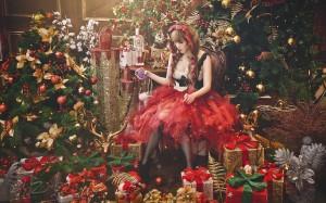 火辣西方美女圣诞装诱人写真