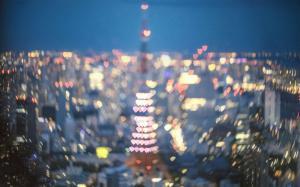 唯美城市建筑夜景灯光桌面壁纸