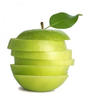 清爽可口青苹果桌面壁纸