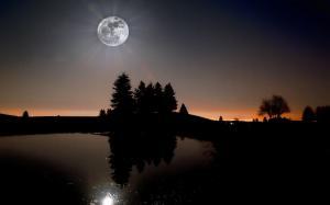 中秋节美丽的月亮